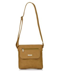 Fostelo Women's Beauty Queen Beige Sling Bag (Code - FSB-1140)