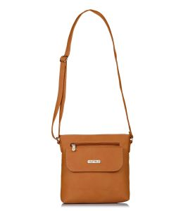Fostelo Women's Beauty Queen Tan Sling Bag (Code - FSB-1141)