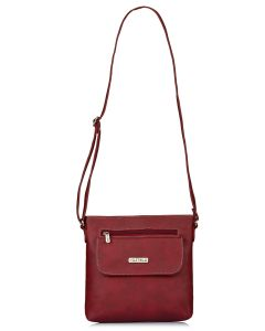 Fostelo Women's Beauty Queen Maroon Sling Bag (Code - FSB-1142)