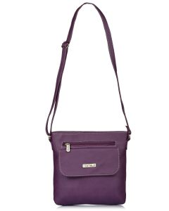 Fostelo Women's Beauty Queen Purple Sling Bag (Code - FSB-1143)