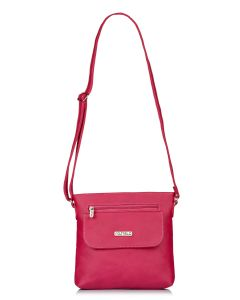 Fostelo Women's Beauty Queen Pink Sling Bag (Code - FSB-1144)