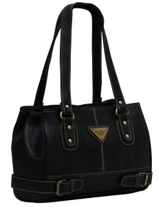 Fostelo Swiss Triangle Black Handbag