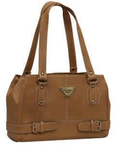 Fostelo Swiss Triangle Beige Handbag