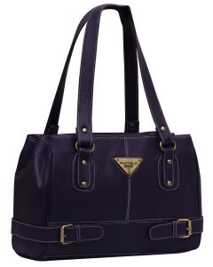 Fostelo Swiss Triangle Purple Handbag