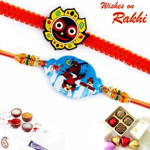 Aapno Rajasthan Set Of 2 Differntly Styled Kids Rakhi
