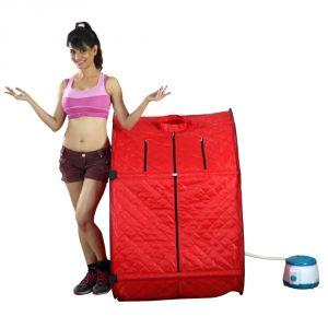 Kawachi Health & Fitness - Kawachi Portable Steam and Sauna Bath SteamLife-I03 Red