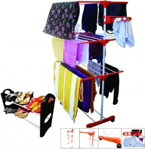 Kawachi Cloth Drying Stand With Shoe Rack C12