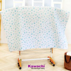 Kawachi Mild Steel Powder Coated With Abs Plastic Jumbo Rack Laundry Hanger Cloth Drying Stand Orange