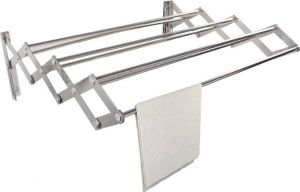 Cloth stands - Kawachi Stainless Steel Foldable 2.5 Feet Loundry Hanger Wall Mounted Cloth Dryer Stand