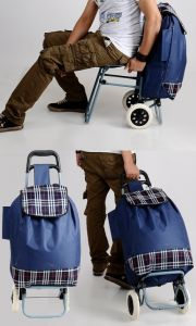 Bags, Luggage - Shopping Trolley Bag With Folding Chair