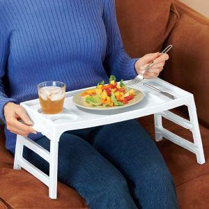 Kawachi Home Utility Furniture - Kawachi Convertible Plastic Foldable Lap Table Tray K157