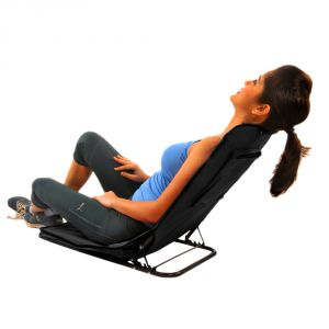Kawachi Folding Floor Cum Yoga Picnic Camping Meditation Chair - Black