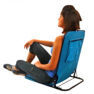 Kawachi Folding Floor Cum Yoga Picnic Camping Meditation Chair - Blue