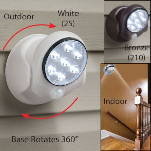 Kawachi Cordless Motion Activated Sensor Light Wall Lamps 360 Degree 6v 7 L