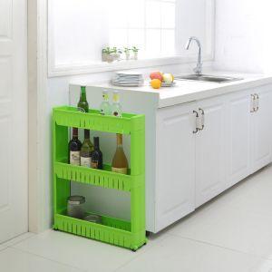 Kitchen Utilities (Misc) - Kawachi Multipurpose Removable 3 Layer Plastic Storage Rack Kitchen & Bathr