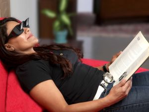 Sunglasses, Spectacles (Women's) - Kawachi Lazy Lying Down Periscope Horizontal Reading Glasses Sit-View Prism