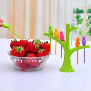 Kawachi Trees Bird Fruit Fork Tableware Dinnerware Sets Birdie Green Fruit