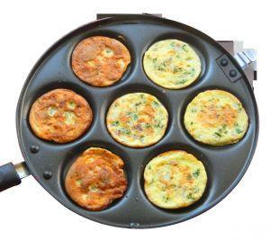 Kawachi Kitchen Utilities (Misc) - Kawachi Pan Cake Fry Pan  Double Sided Black K319