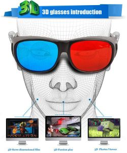 Kawachi Electronics - Kawachi Professional Resin Frame 3D Glasses Anaglyph Glasses for Movie Game