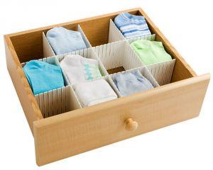 Women's Accessories - Kawachi Plastic Storage Cabinet Drawer Divider Partition (White) K335