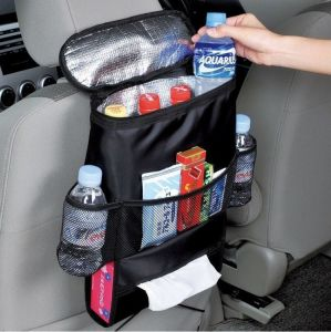 Kawachi Multifunctional Car Seatback Thermal Cooler Bag Organizer Tissue Box Fabric Storage Hanging Bag Travel Car Seat Back-k374