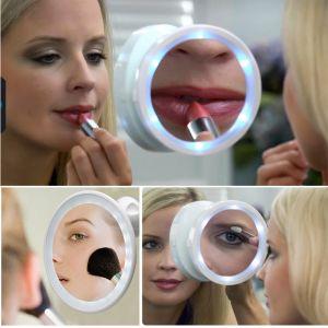 Kawachi Personal Care & Beauty - Kawachi Magnifying Glass Travel Makeup Mirror LED Lights Swivel Brite Cosmetic Tool Bath mirror portable mirror