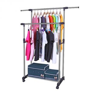 Cloth stands - Kawachi Double Pole Telescopic Loundry Hanger Cloth Drying Stand K438