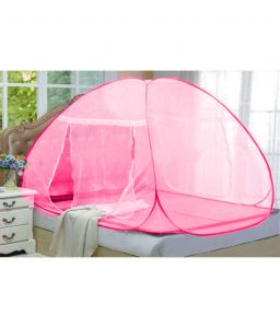 Kawachi Furnishings (Misc) - Kawachi Double Bed Size Folding Mosquito Net-Pink