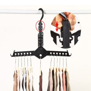 Kawachi Magic Multi-functional Dual Hanger Folding Clothes Hanger Clothing Drying Rack