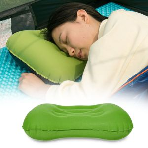 Kawachi Home Decor & Furnishing - Kawachi Ultralight Camping Travel Inflatable Pillow, Neck Protective, Portable Compact Comfortable for Hiking