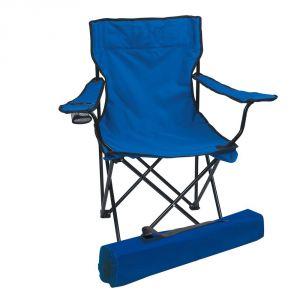 Kawachi Home Utility Furniture - Folding Camping Chair Portable Fishing Beach Outdoor Collapsible Chairs-Blue