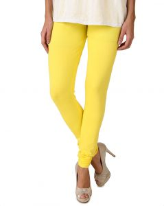 Jagdamba,Kalazone,Flora,Vipul,Jpearls,Fasense Leggings - Fasense Women's Yellow Cotton Leggings, DM001 G