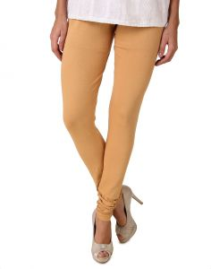Kiara,Fasense,Flora,Triveni,Valentine,Surat Tex,Kaamastra,Sukkhi Leggings - Fasense Women's Brown Yellow Cotton Leggings, DM001 Q