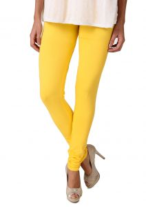 Kiara,Fasense,Flora,Triveni,Valentine,Surat Tex,Kaamastra,Sukkhi Leggings - Fasense Women's CADMIUM YELLOW Cotton Leggings, DM001 U