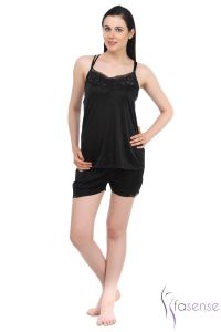 Fasense Satin Top & Shorts Dp041 B