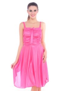 Fasense Women Satin Slip Nightwear Sleepwear Short Nighty Dp057 C
