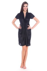 Fasense Women Satin Nihgtwear Sleepwear Night Gown / Robe Dp066 B