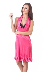 Fasense Women Stylish Satin Nightwear Sleepwear Short Nighty Dp079 B