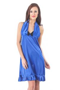 Fasense Women Stylish Satin Nightwear Sleepwear Short Nighty Dp079 C