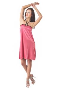 Fasense Women Stylish Satin Nightwear Sleepwear Short Nighty Dp081 B
