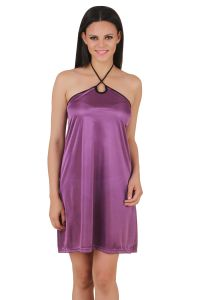 Triveni,Platinum,Jagdamba,Ag,Estoss,Surat Diamonds,Cloe,Bikaw,Mahi,Tng,Fasense Women's Clothing - Fasense Exclusive Women Satin Nightwear Sleepwear Short Nighty DP081 E