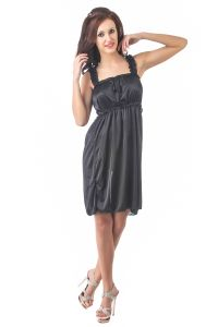 Fasense Women Stylish Satin Nightwear Sleepwear Short Nighty Dp082 B