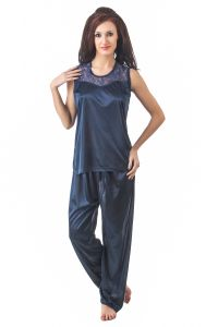 Fasense Women Stylish Satin Nightwear Sleepwear Night Suit Dp088 C