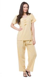 Fasense Exclusive Women Cotton Nightwear Top & Pyjama Set, Dp129 B