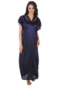 kiara,sukkhi,jharjhar,fasense,sleeping story,surat tex Sleep Wear (Women's) - Fasense Exclusive Women Satin Nightwear Sleepwear Long Nighty DP136 C