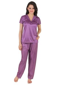 kiara,fasense,flora,pick pocket,avsar,gili,diya Pyjamas & lounge pants - Fasense Exclusive Women Satin Nightwear Nightsuit Top & Pyjama Set DP137