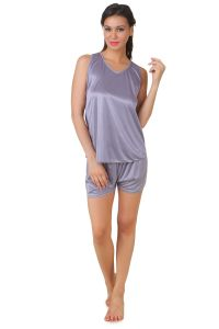 Fasense Exclusive Women Satin Nightwear Top & Shorts Set Dp144 C