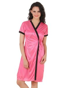 Fasense Exclusive Women Satin Nightwear Sleepwear Wrap Gown Dp145 B