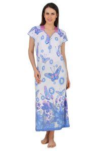 Nightgowns - Fasense Exclusive Women Shinker Cotton Nightwear Sleepwear Long Nighty