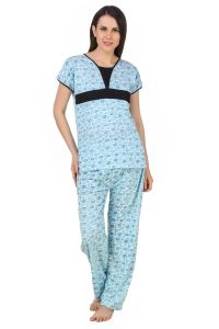 Fasense Exclusive Women Cotton Nightwear Nightsuit Top & Pyjama Set,